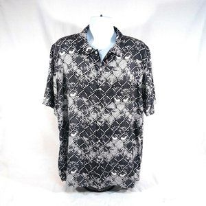 Obey Worldwide Chain Link Fence Print Button Up XL